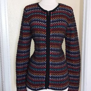 Coldwater Creek Multi-Colored Cardigan